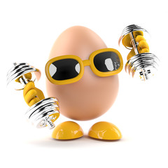Egg works out