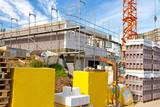 Bau eines Einfamilienhauses - Doppelhaushälfte
