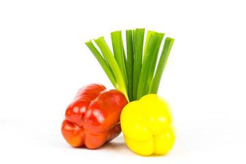 Paprika Lauchzwiebel