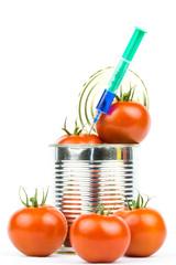 Tomaten Konservendose Spritze