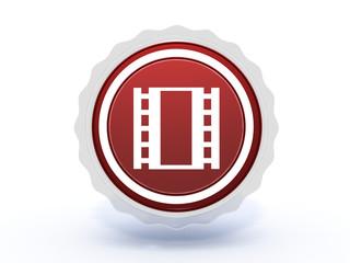 film star icon on white background