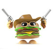 Burger is out in the Wild West
