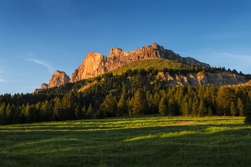 Sunset on the Catinaccio, Dolomites - Italy