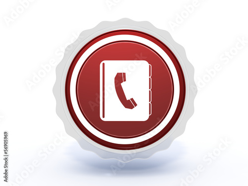 phonebook star icon on white background