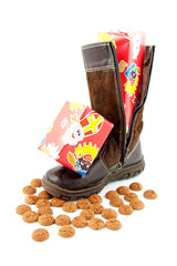 Ginger nuts and presents in boot