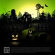 Halloween green poster