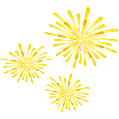 Feuerwerk - Silvester - gelbe Kugeln