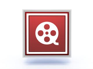 film rectangular icon on white background