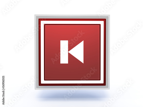 prev rectangular icon on white background
