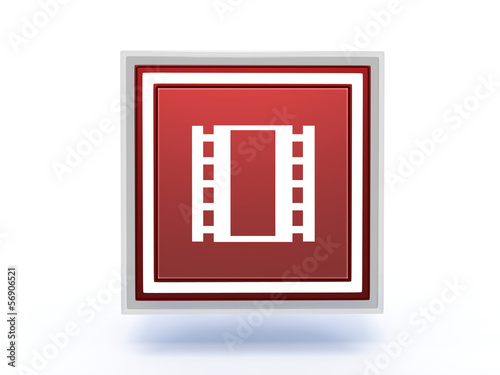 film rectangular icon on white background