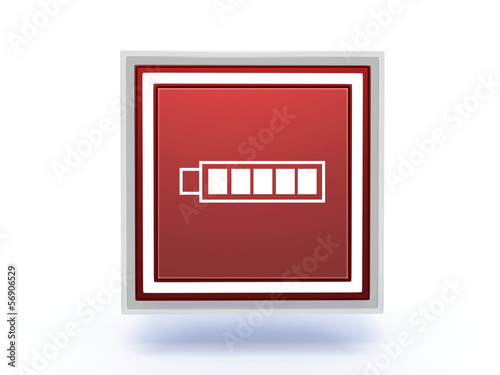 battery rectangular icon on white background