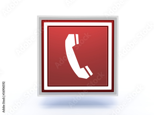 phone rectangular icon on white background