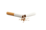 Stop smoking on white background.