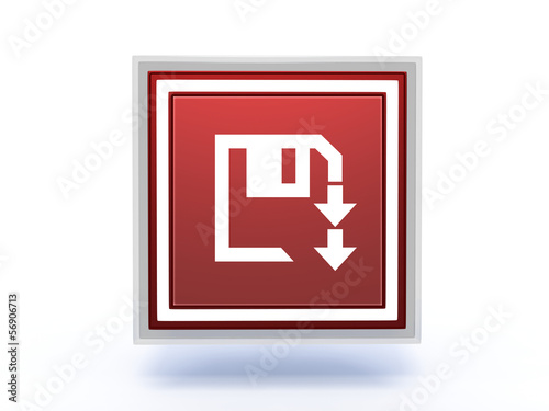 disk rectangular icon on white background