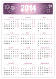 Calendrier 2014 simple - facilement éditable