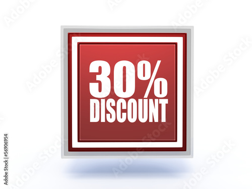 discount rectangular icon on white background