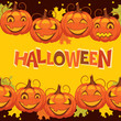 vector banner halloween pumpkin