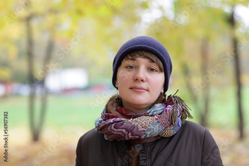 Girl at autumn park