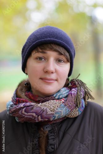 Portrait of girl in autumn