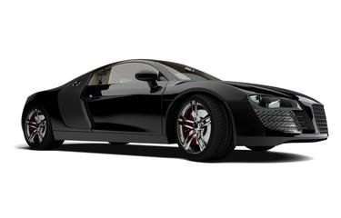 Sportwagen schwarz freigestellt