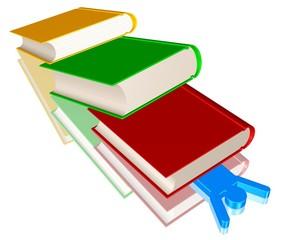 Erschlagen von einem Stapel Bücher - Burnout bei Studenten