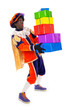 zwarte piet with presents (black pete)