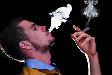 smoking cigars