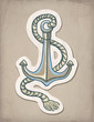 Vector illustration of anchor