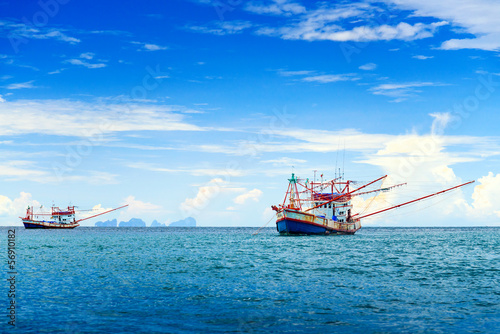 Fishing ship in Andaman sea Thailand - 56910182