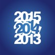 2014 three years blue logo vector
