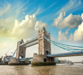 Beautiful view of magnificent Tower Bridge, icon of London, UK.