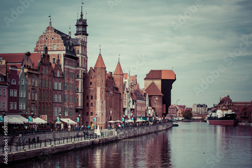 Gdansk Old Town and the river Motlawa © piccaya