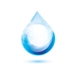 water drop isolated vector symbol