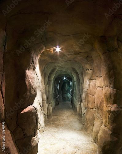 Staande foto Tunnel underground