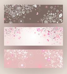 Beautiful floral horizontal banners