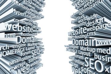 SEO Domain wordcloud 3D