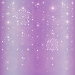 New Year's stars abstract background