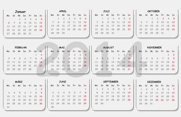 Kalender - Visitenkarte 2014