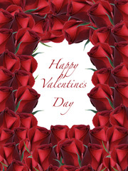 Happy Valentine's Day Red Rose Frame