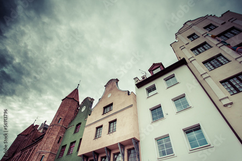 Old houses in Gdansk, Poland