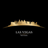 Fototapety Las Vegas Nevada city skyline silhouette black background