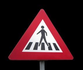 traffic sign crossing