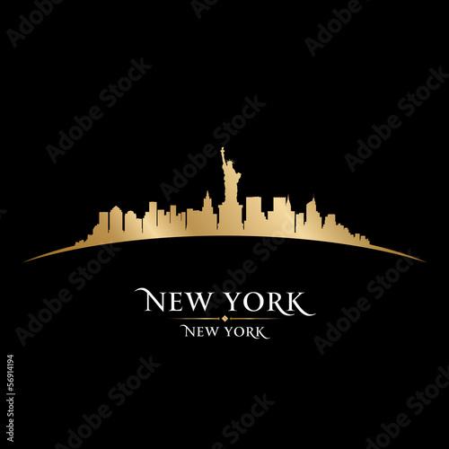 Fototapeten,new york,stadt,skyline,silhouette
