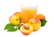 peach juice with fresh fruits