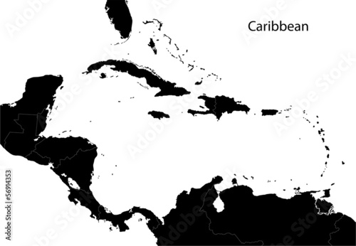 Black Caribbean map