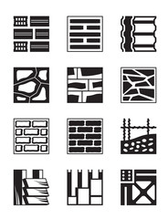 Various construction materials - vector illustration
