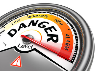 danger level conceptual meter