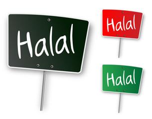 """Ardoise """"Halal"""""""