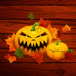 Vector Illustration of a Decorative Halloween Design