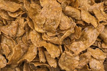 caramelized rice crisps